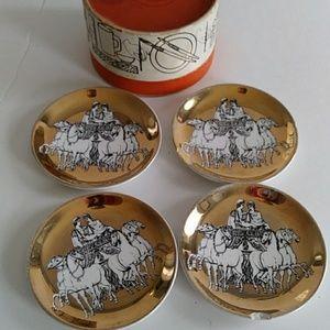 Vintage Fornasetti Coaster Set